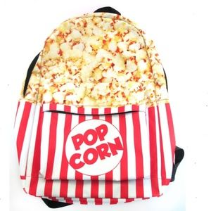 Popcorn Backpack Bookbag Bag Children Boy Girl red